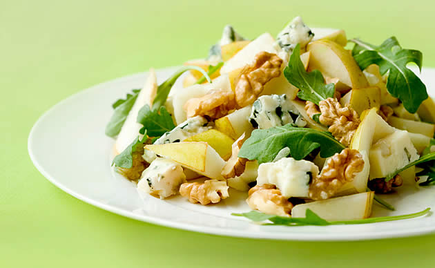 Saladas com oleaginosas