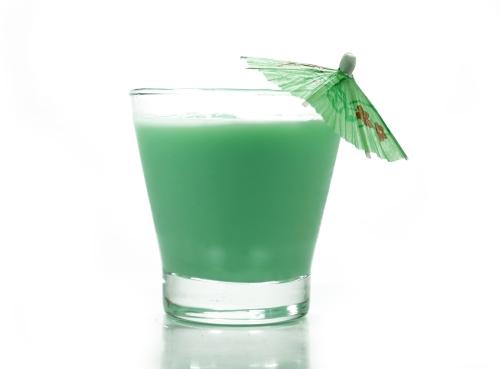Drink com licor de menta