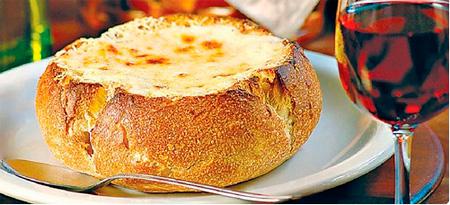 Brie no pão italiano
