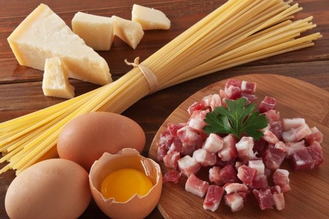 ingredientes do macarrão carbonara