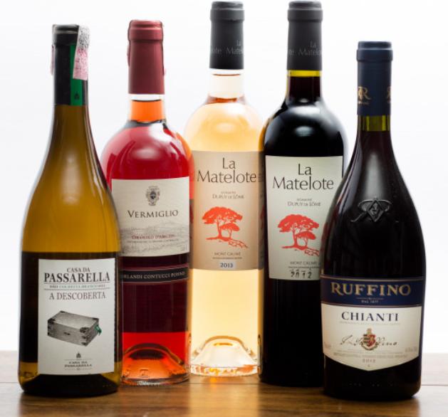 kit 5 vinhos velho mundo